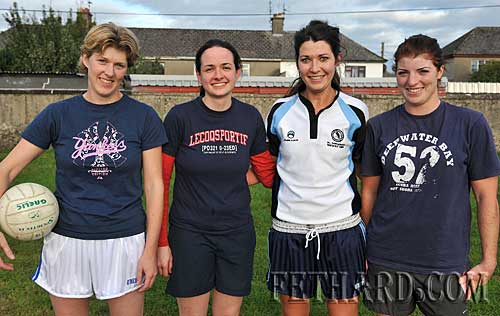 Fethard Junior ladies football team members in training for their first ever county final next week L to R: Kay Spillane, Marion Harrington, Emily Noonan and Sarah Smyth.
