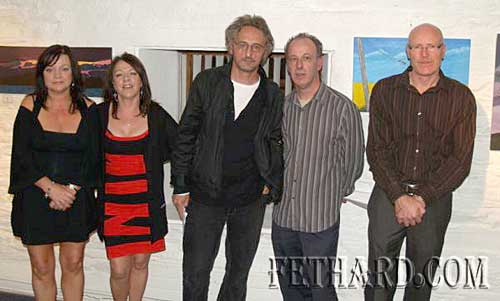 Pictured at the launch of the Granary Art Exhibition: l to r: sisters Anne & Maria Finnegan, artists, James Power, Artistic Director, Stagemad Theatre Company; Mick Flavin, artist; Joe Fogarty, artistPictured at the launch of the Granary Art Exhibition: l to r: sisters Anne & Maria Finnegan, artists, James Power, Artistic Director, Stagemad Theatre Company; Mick Flavin, artist; Joe Fogarty, artist