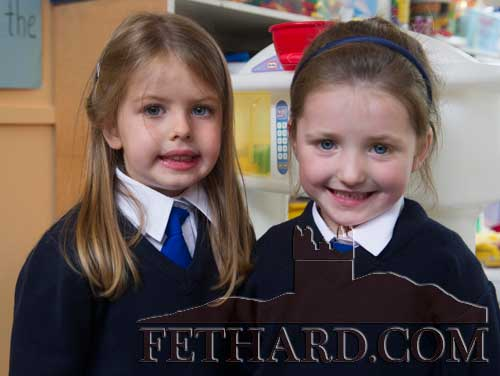 Starting school at Holy Trinity National School Fethard are L to R: Lauren Connolly and Mai Hayes.