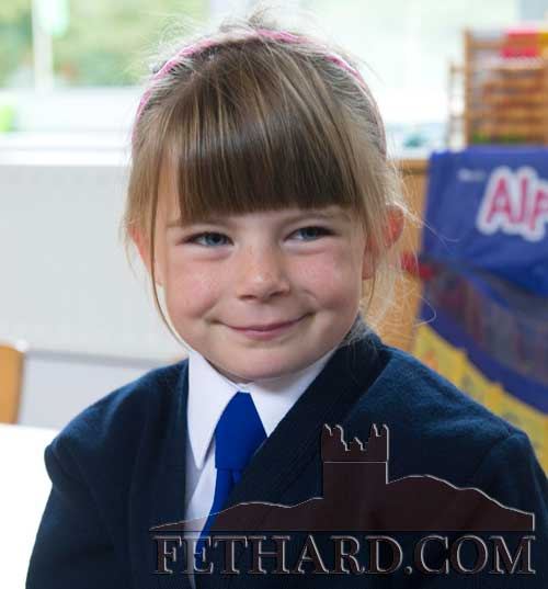 Lauren Donegan starting school at Holy Trinity National School Fethard