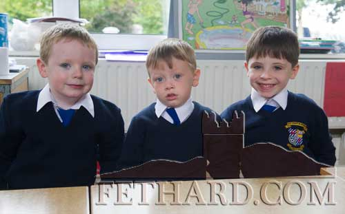 Starting school at Holy Trinity National School Fethard are L to R: Seán Woods, Adam Fox and Christopher Houlihan.