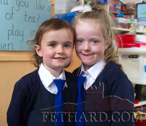 Starting school at Holy Trinity National School Fethard are L to R: Charlotte Walsh and Emma Power