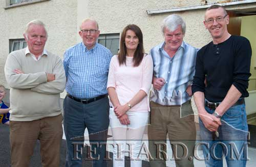 Photographed at the launch of the Cloneen & Killusty Community Text Alert Schemes in Cloneen Hall are L to R: Alan Britton, Frank Britton, Marie Meaney, Harry Smyth and Michael O'Gorman.