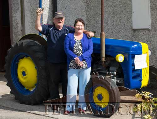 Seamus and Margaret Dorney showing their true colours for this year's All-Ireland Senior Hurling final between Tipperary and Kilkenny on Sunday, September 7.