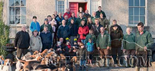 The Ballylusky White Heather Harriers photographed at their invitation meet at Fethard Rectory on Sunday, November 23.