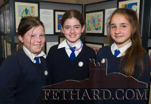 Photographed at the 'Europe Day' at Holy Trinity National School. L to R: Aisling Hennessy, Emma Lyons and Melinda Csuzi.