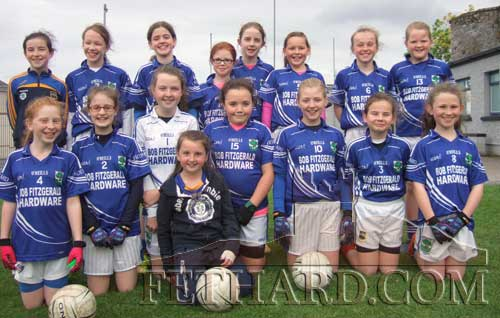 Girls' U12 Community Games GAA team who defeated Cahir. Back L to R: Aine Ryan, Ciara Spillane, Emma Lyons, Hannah Sheehy, Hannah Connorton, Ella-Mai Hackett, Heather Spillane, Anna Cummins. Front L to R: Kelly Ryan, Aoife Morrissey, Eimear O'Sullivan, Rose O'Donnell, Lily O'Mahoney, Abby Tillyer, Jess Gleeson and Nicole Delaney in very front.