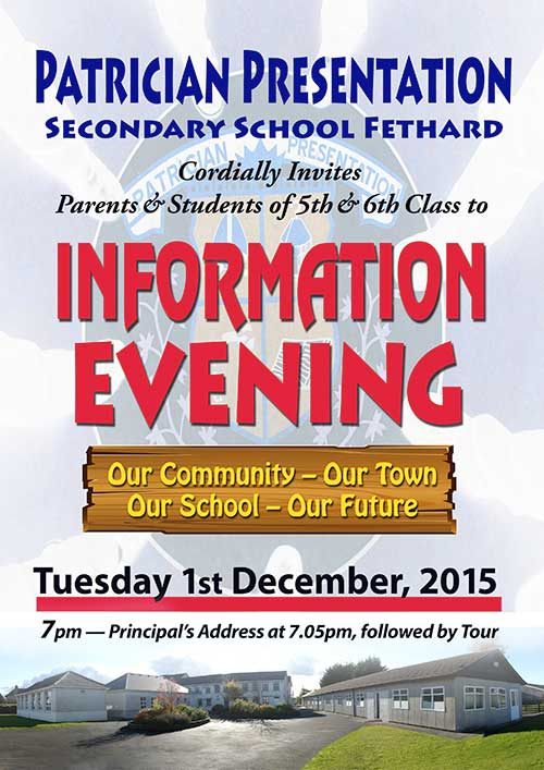 Open Information Evening at Patrician Presentation Secondary School on Tuesday, December 1, 2015