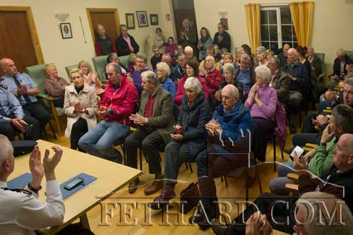 A section of the large crowd that attended the launch of Fethard Community Text Alert Scheme