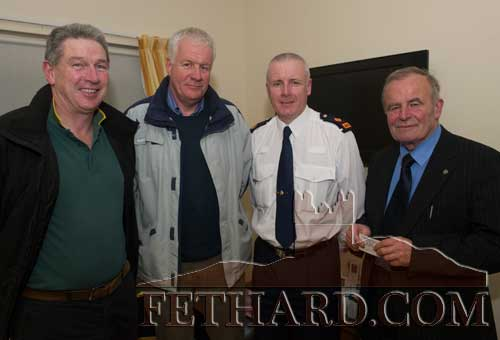 Photographed at the Official Launch of Fethard Community Text Alert were L to R: Willie Quigley, Conor McGuire (Coolmore), Superintendent William Leahy, and Cllr. John Fahey.