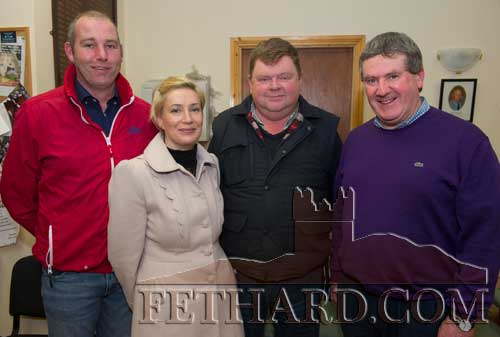 Photographed at the Official Launch of Fethard Community Text Alert were L to R: Niall O'Donnell, Abigail Sheehan, M.G. Ryan and Sean O'Donovan.