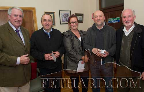 Photographed at the Official Launch of Fethard Community Text Alert were L to R: Michael Mallon, Donncha Doyle, Louise Coen, Kevin Ryan and Joe Lee.