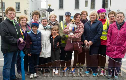 Some of the participants that took part in the Sponsored Walk for the Fethard Lourdes Invalid Fund last Sunday morning in Fethard
