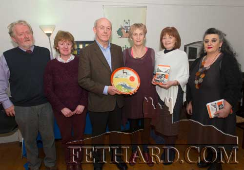 Photographed at the presentation of the  'Tipperariana Book of the Year for 2015' in the Abymill Theatre, Fethard, are L to R: Terry Cunningham (chairperson Fethard Historical Society), Catherine O'Flynn (treasurer), winning author John Fogarty, Dóirín Saurus (Crampscastle Pottery), Mary Hanrahan (PRO) and Pat Looby (vice-chairman). The winning book was 'Scenes from an Indian Summer', published by Galway-based publishers, Wordsonthestreet.