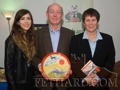 Winning author, John Fogarty, photographed with his wife Veronica and daughter Maryanne at the presentation of the 'Tipperariana Book of the Year for 2015' in the Abymill Theatre, Fethard.