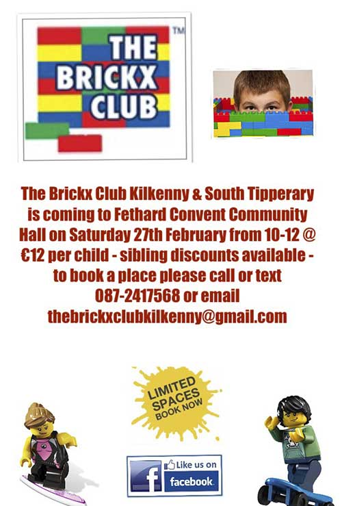 The Brickx Club coming to Fethard Convent Hall on Saturday February 27, 2016