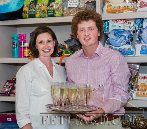 Frances and John Hennessy photographed at the official opening of his new Fethard Veterinary Clinic last Friday evening