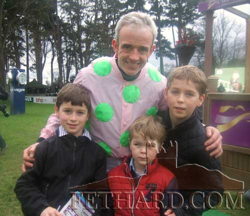 William, David and Patrick Colville from Rosegreen were present to congratulate Ruby Walsh after his spectacular win on Faugheen in the Irish Champion Hurdle at  Leopardstown last Sunday